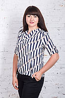 Женская блуза прямого кроя весна-лето 2018 - (код бл-194)