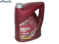 Масло моторное синтетика MANNOL Diesel Turbo 5W-40 5L CI-4/SL