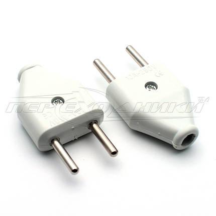 Вилка электрическая плоская 10A EU, прямая (тип 2), фото 2
