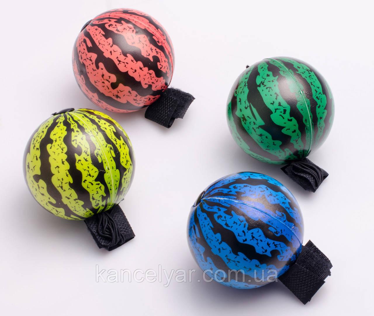 """М'ячик на резинці поролоновий """"Кавун"""", 6 см, в асортименті"""