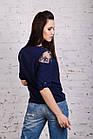 Нежная женская блузка 2018 с ажурной вышивкой - (код бл-196), фото 3