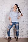 Нежная женская блузка 2018 с ажурной вышивкой - (код бл-196), фото 4