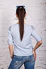 Нежная женская блузка 2018 с ажурной вышивкой - (код бл-196), фото 6