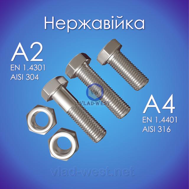 Кріплення з нержавіючої сталі А2 А4