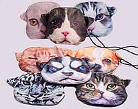 """Сумочка дитяча """"Тварини: коти-собаки"""", 3D, 20х18 см, атлас, на підкладці, на блискавці, внутрішній кишеньку на"""