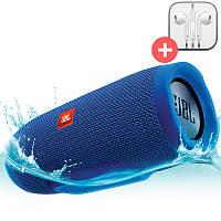 Портативная Bluetooth колонка JBL Charge 3 + MP3 FM USB. Синяя. Blue