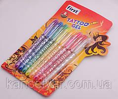 Ручка гель-татту, 8 цветов