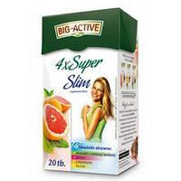 Big-Active Чай 4хSuper Slim Фруктовый очищение и похудение