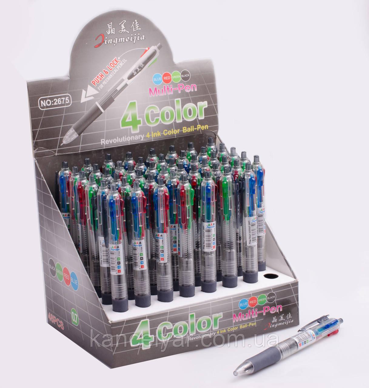 Ручка кулькова автомат, 4-кольоровий