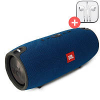 Портативная колонка  Bluetooth Powerbank JBL Xtreme mini  блютуз  MP3 FM USB. Синяя. Blue