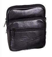 Кожаная мужская сумка через плечо барсетка 17х14х5см