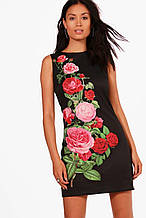 Женское платье мини размер S/M (RU 42) женские платья на лето с 3д рисунком