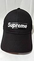 """(бесплатная доставка)Бейсболка """"Supreme"""" с липучкой котоновая черная"""