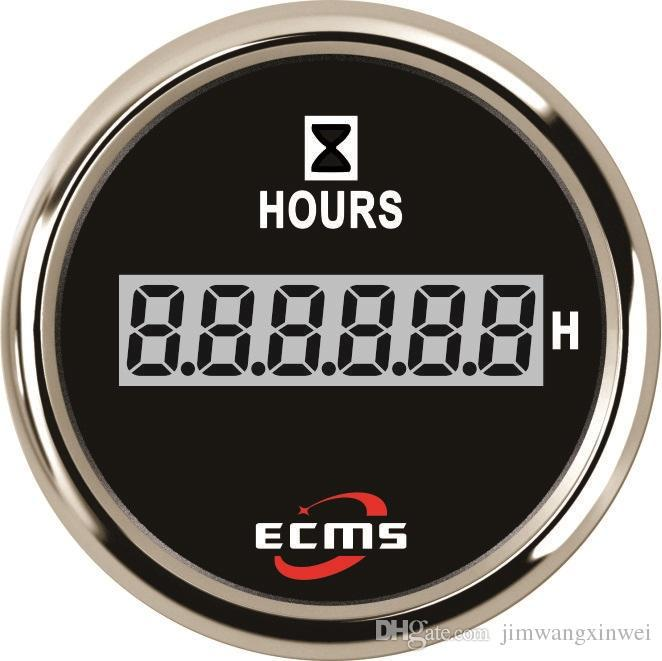 Счетчик моточасов ECMS CLH2-BS-HS 52мм черный 801-00056 СЕРИЯ ЭКОНОМ
