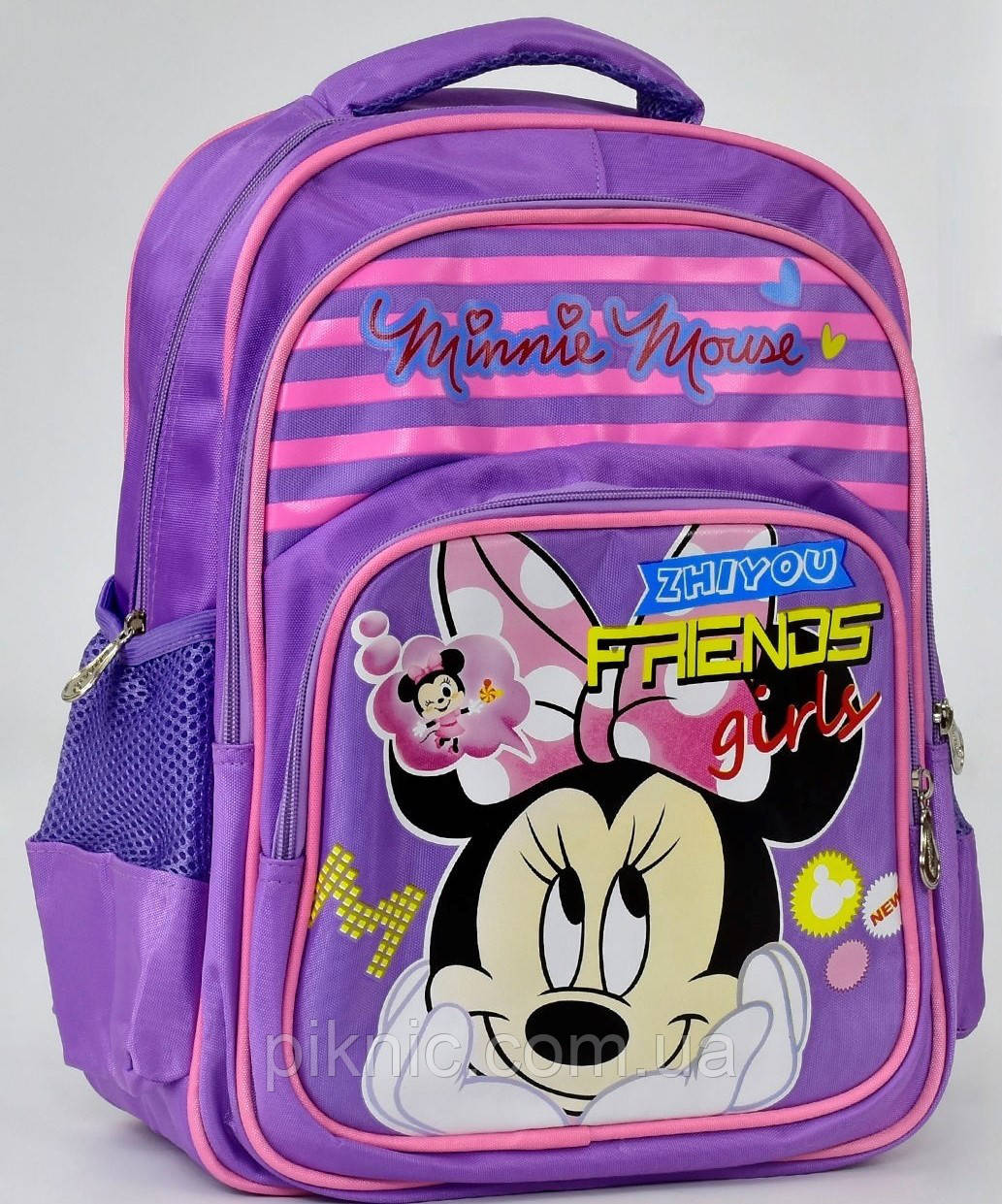 6c67bf02fea0 Школьный рюкзак ортопедический Микки Маус №4 для девочки. Детский портфель  ранец для школы 1