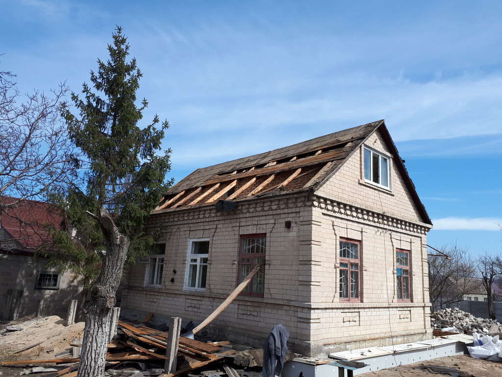 Демонтаж кирпичного дома в Приднепровске  5