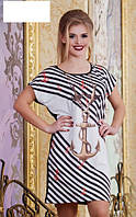 Платье с якорем батал  р2850, фото 1