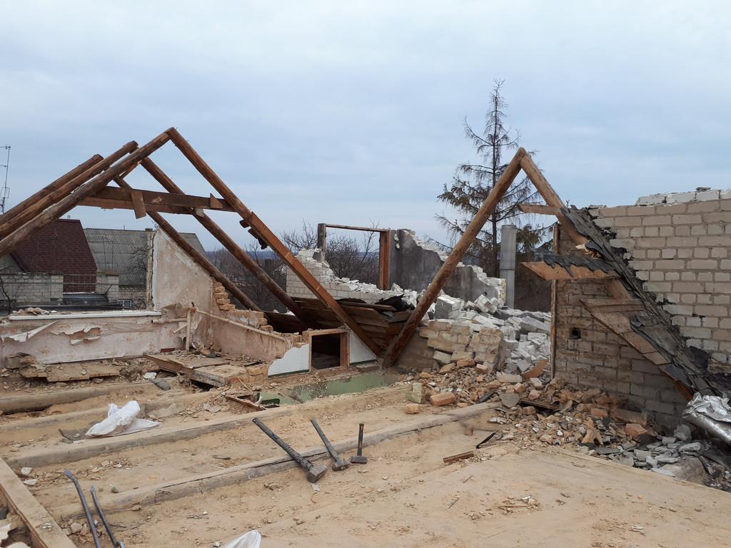 Демонтаж кирпичного дома в Приднепровске  12