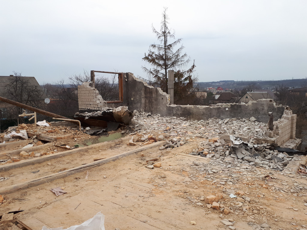 Демонтаж кирпичного дома в Приднепровске  13