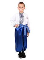 Дитяча сорочка для хлопчиків з сірим орнаментом на домотканому, фото 1