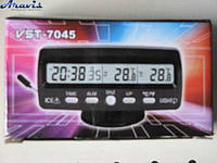 Часы VST-7045 +термометр внут/наруж/подсветка