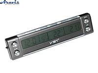 Часы VST-7036 +термометр внут/наруж/подсветка