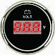 Вольтметр для човни, катери, яхти PMV2-BS-8-16 чорний, фото 2