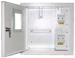 Щит учета и распределения  ШМР-1Ф-4А электронный, накладной, металлический