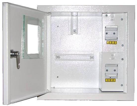 Щит учета и распределения  ШМР-1Ф-4А, электронный, врезной, металлический, фото 2
