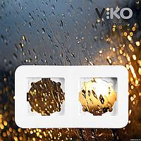 Двойная горизонтальная рамка VIKO Rollina Белая