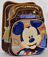 Школьный рюкзак ортопедический + Пенал Микки Маус 7 для детей. Детский портфель ранец для школы 2, 3, 4 класс