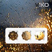 Тройная горизонтальная рамка VIKO Rollina Белая