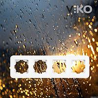 Четверная горизонтальная рамка VIKO Rollina Белая