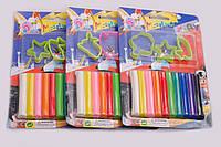Пластилін восковий: 10 кольорів + формочки
