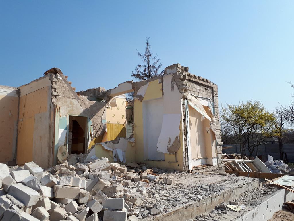 Демонтаж кирпичного дома в Приднепровске  29