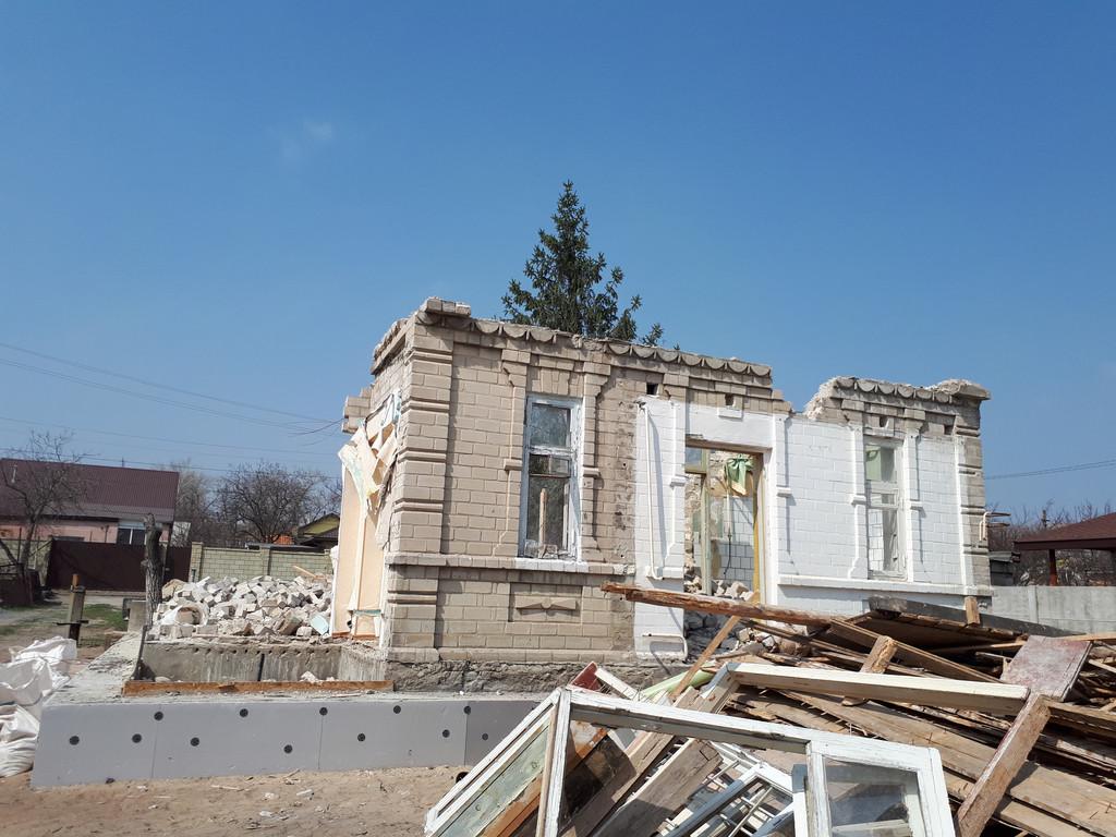 Демонтаж кирпичного дома в Приднепровске  33