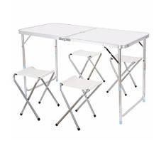 Комплект мебели складной Folding Table 120*60 cm White
