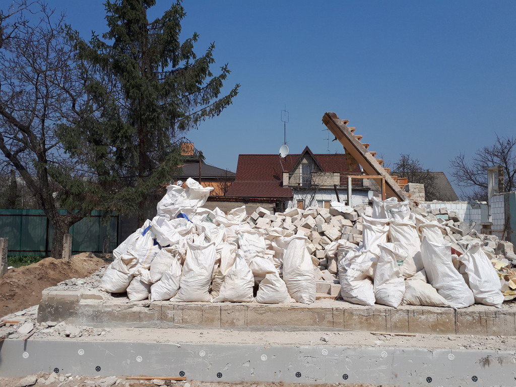 Демонтаж кирпичного дома в Приднепровске  35