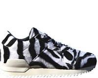 Женские кроссовки Адидас Adidas ZX 700 Remastered Zebra White Black (Арт. 0856)