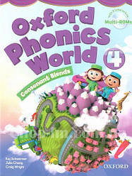 Oxford Phonics World 4 Consonant Blends Student's Book with MultiROM  / Учебник с диском