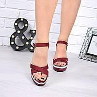 Босоножки женские Dual бордо , женская обувь