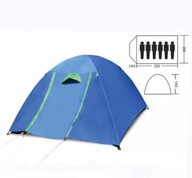 Палатка кемпінгові 6-місна з тентом і коридором SY-017 (р-р 2,2х2,5х1,5м, PL)