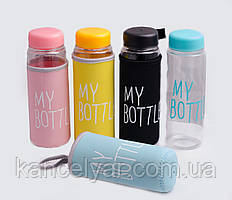 Бутылка для воды, 0.5 л, в ассортименте