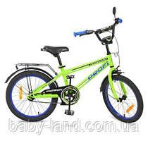 Велосипед дитячий двоколісний 20 дюймів PROFi T2072 зелений