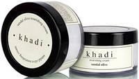 Крем Кхади питательный для лица Сандал и Олива, Nourishing Cream Khadi sandal olive, 50 гр