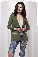 Стильный женский пиджак карманами 7043, фото 1