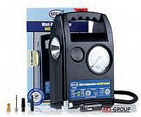 Автокомпрессор 12 В ''Nonstop'' с LED-лампой и манометром Alca 209 100
