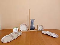 Тарелки с оригинальным рисунком и синяя ваза с Германии б / у