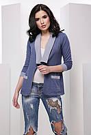 Стильный женский пиджак карманами 7043/3, фото 1