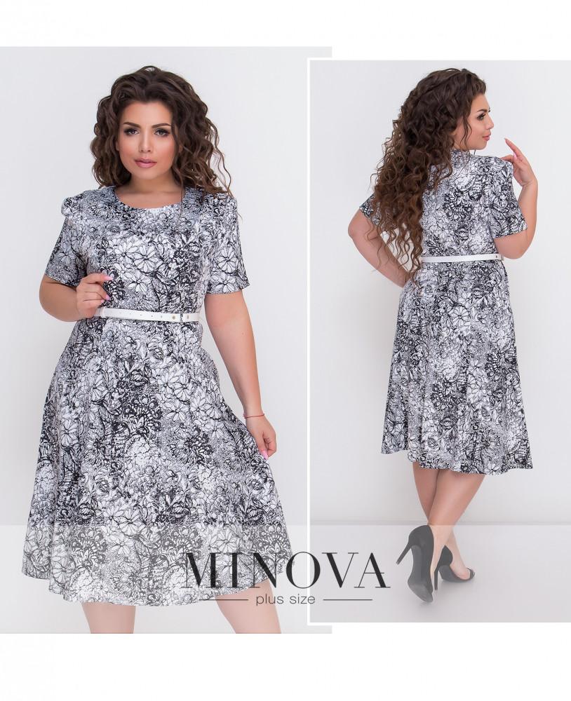 Сукня з стрейчевого полірованого коттону з принтом  продажа 742094344291c